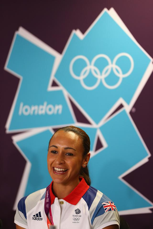 LONDON, ENGLAND - AUGUST 01:  Jessica Ennis during the Great Britain athletics press conference at the Main Press Centre on August 1, 2012 in London, England.  (Photo by Michael Steele/Getty Images)