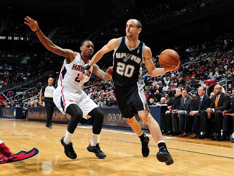 Ginobili out 3-4 weeks with hamstring strain
