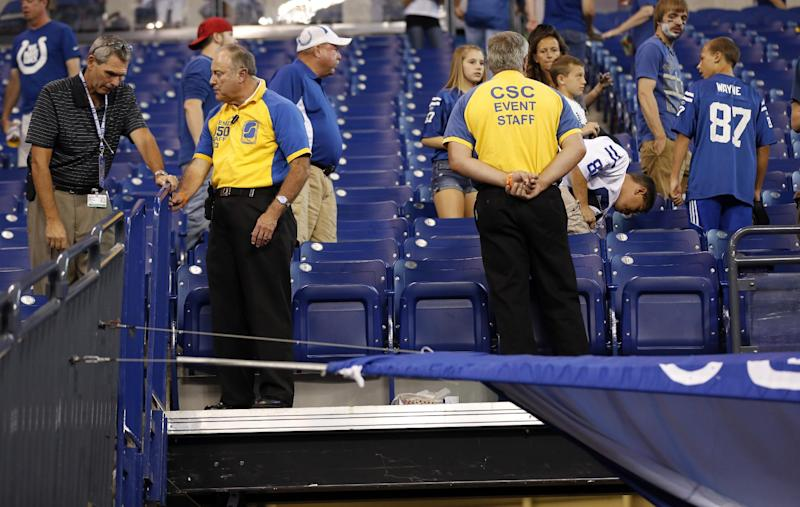 Stadium officials say railings will be safe Sunday