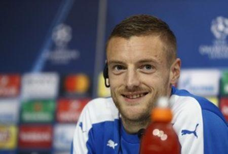 Football Soccer - Leicester City Press Conference - Ramon Sanchez Pizjuan Stadium, Seville, Spain - 21/2/17 Leicester City's Jamie Vardy during the press conference  Action Images via Reuters / John Sibley Livepic