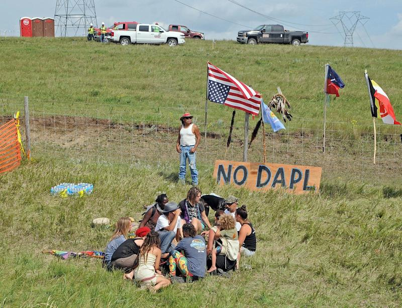 Judge orders protesters not to interfere with oil pipeline