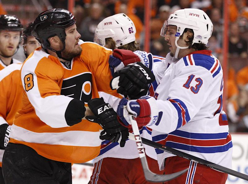 Flyers, Rangers make lineup changes for Game 5