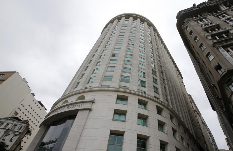 The headquarters of OGX Petroleo e Gas Participacoes SA, the cash-strapped Brazilian oil company controlled by former billionaire Eike Batista, is pictured in downtown Rio de Janeiro