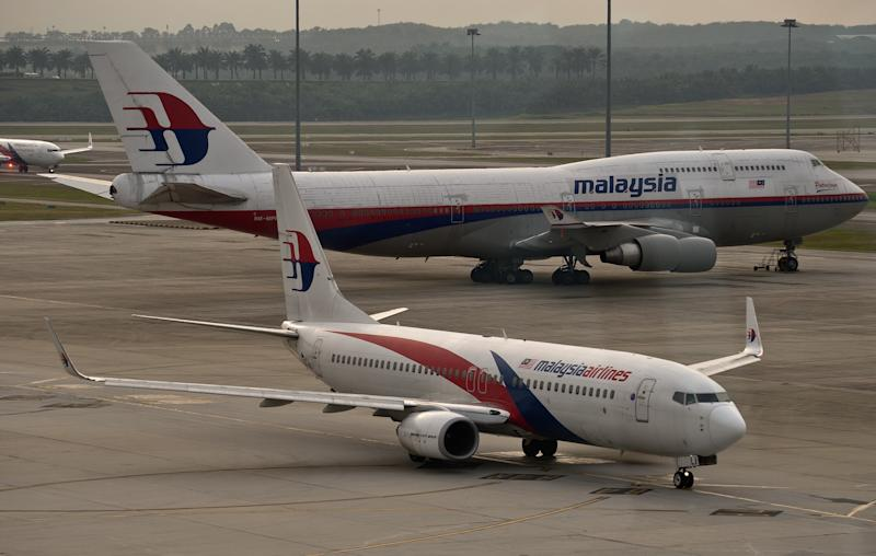 Malaysia Airlines airliners at Kuala Lumpur Airport in Sepang on June 17, 2014