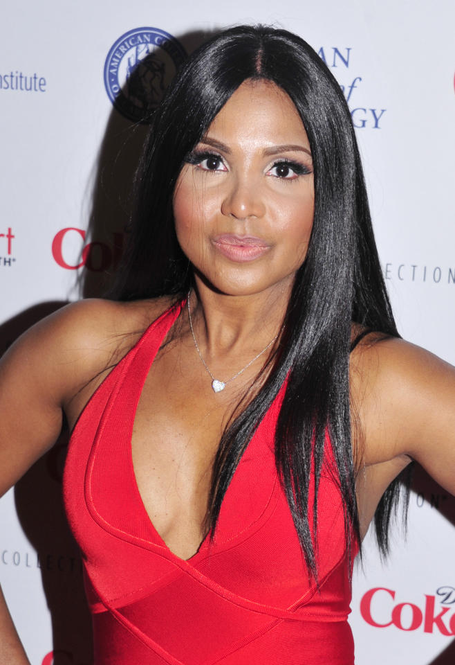 Toni Braxton attends the Red Dress Collection 2013 Fashion Show, on Wednesday, Feb. 6, 2013 in New York. (Photo by Charles Sykes/Invision/AP)