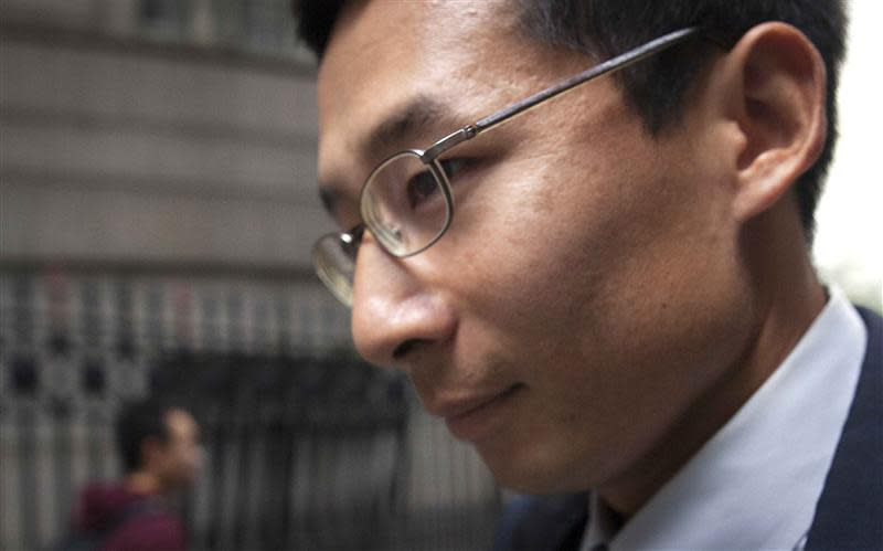 Former employee at expert-networking firm Primary Global Research Nguyen leaves court after his sentencing in New York