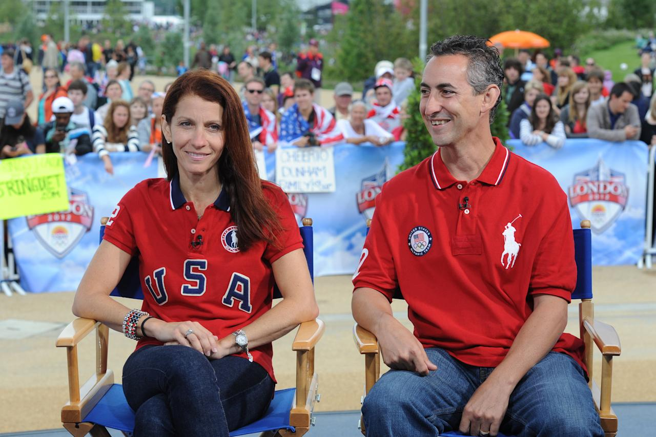 Pictured: (l-r) Lynn and Rick Raisman during the 2012 Summer Olympic Games on July 31, 2012 in London, England -- (Photo by: Dave Hogan/NBC/NBCU Photo Bank via Getty Images)