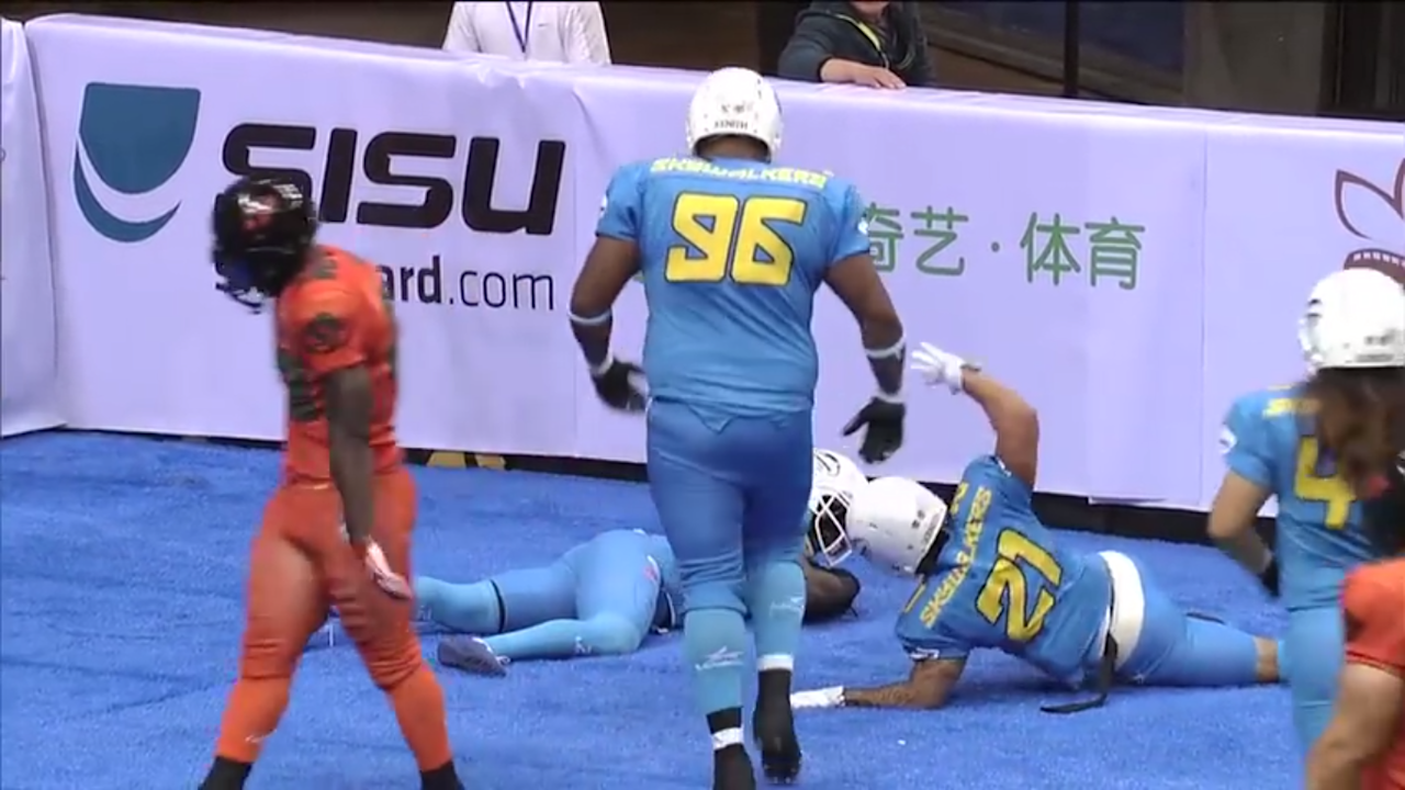 The NFL needs more celebrations like this end zone fencing match in China
