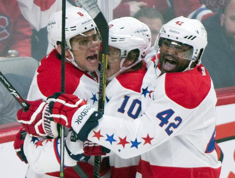 Caps end 7-game skid with 5-0 win over Canadiens