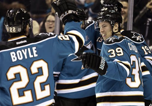Sharks outlast Avalanche 3-2 in shootout