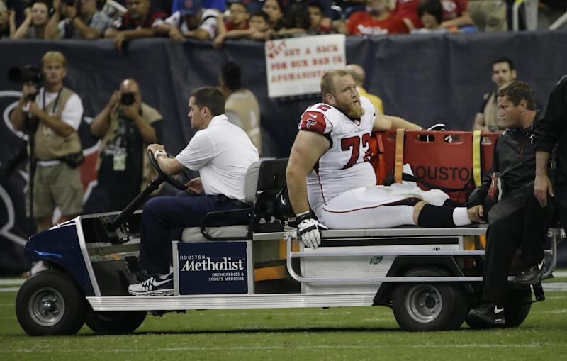 Falcons shift Matthews to left tackle for Baker