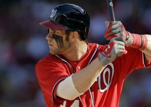 Bryce Harper struck out four times in a loss Monday to the Cardinals. (AP)