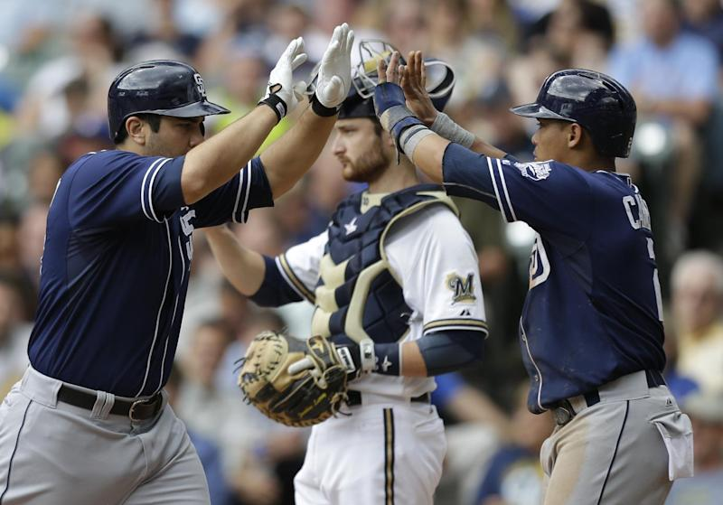 Quentin, Guzman homer as Padres beat Brewers