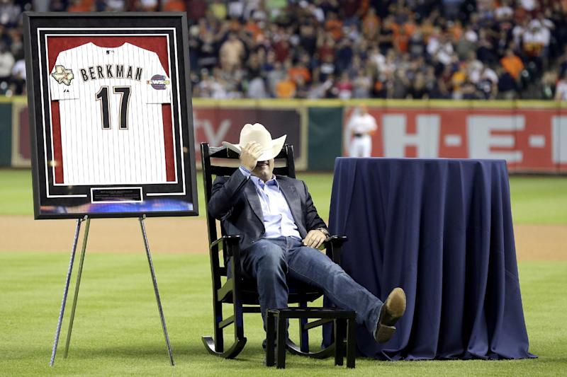 Berkman, Oswalt honored before Astros game