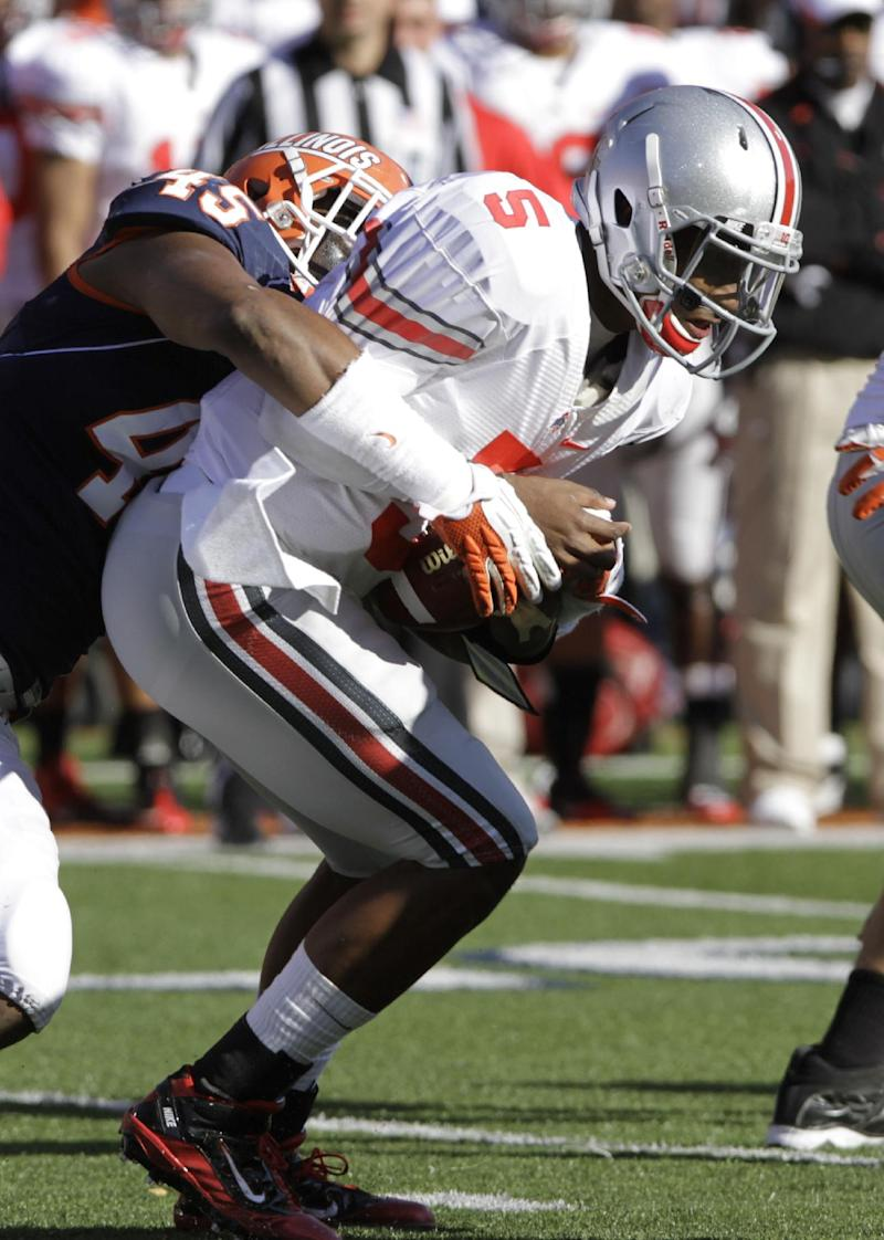 It was a win, but Ohio State completed just 1 pass