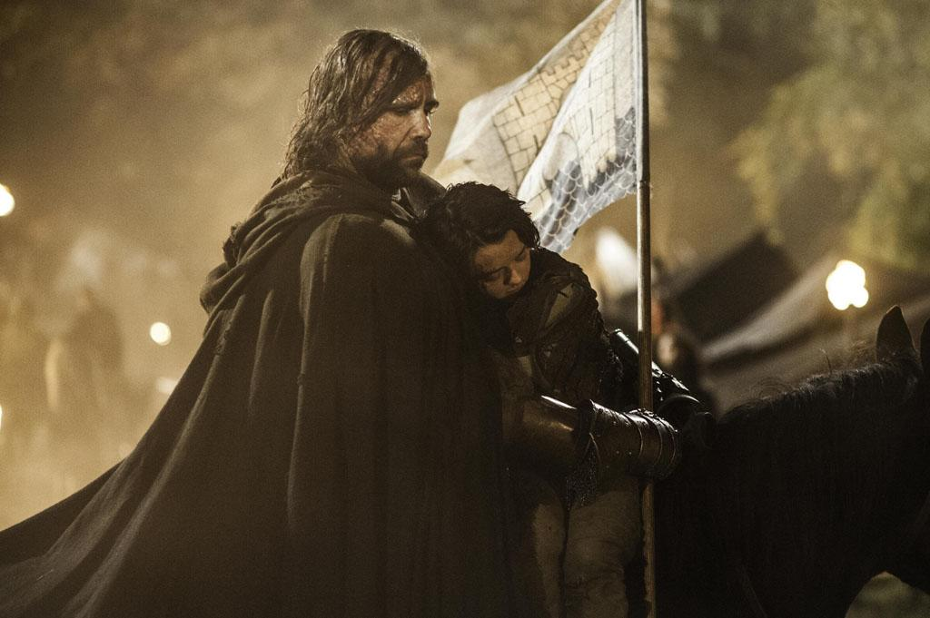 "Rory McCann and Maisie Williams in the ""Game of Thrones"" Season 3 finale, ""Mhysa."""