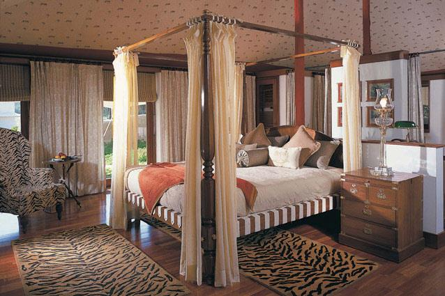The Oberoi Vanyavilas Ranthambore- A stay at Vanyavilas is perfect for couples looking for adventure without compromising on luxury. You'll wake up at dawn to drive into the beautiful Ranthambore forest in the hope of sighting a tiger; and by midday you can return to the plush comfort of The Oberoi's 25 luxury tents (replete with huge bathrooms, beautiful tubs and teak floors).