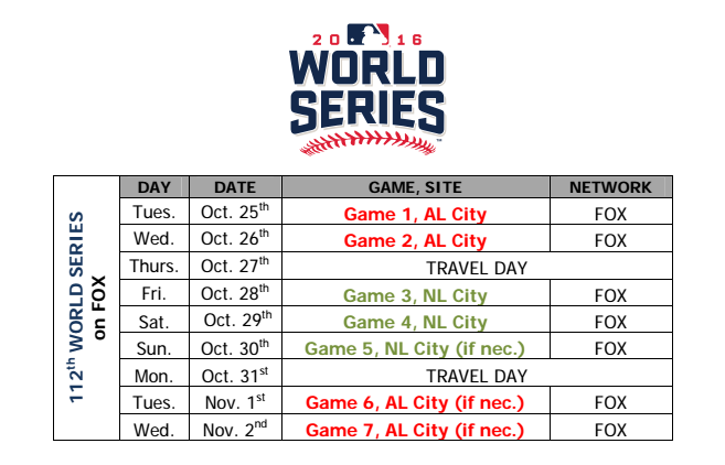Hey, Cubs fans, Major League Baseball releases official postseason schedule