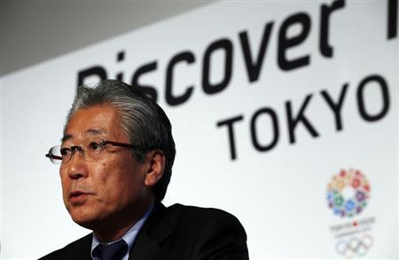 Japan Olympic Committee President Tsunekazu Takeda speaks during a news conference in support of the Tokyo 2020 summer Olympics candidacy in Buenos Aires