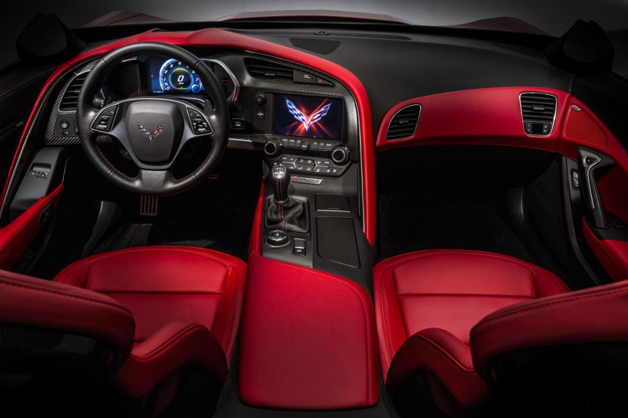 Interior of the new Corvette Stingray