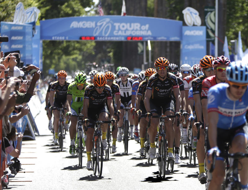 Cavendish wins 1st stage of Tour of California
