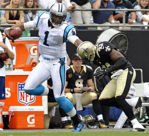 Newton leads Panthers past Saints 35-27