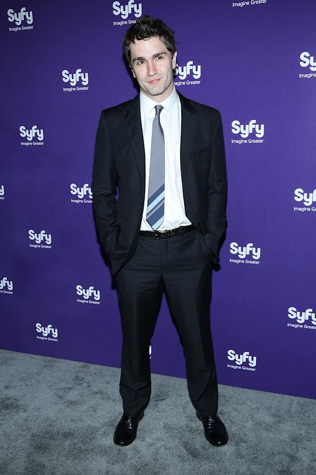 "NEW YORK, NY - APRIL 10:  Sam Witwer of ""Being Human"" attends Syfy 2013 Upfront at Silver Screen Studios at Chelsea Piers on April 10, 2013 in New York City.  (Photo by Rob Kim/Getty Images)"