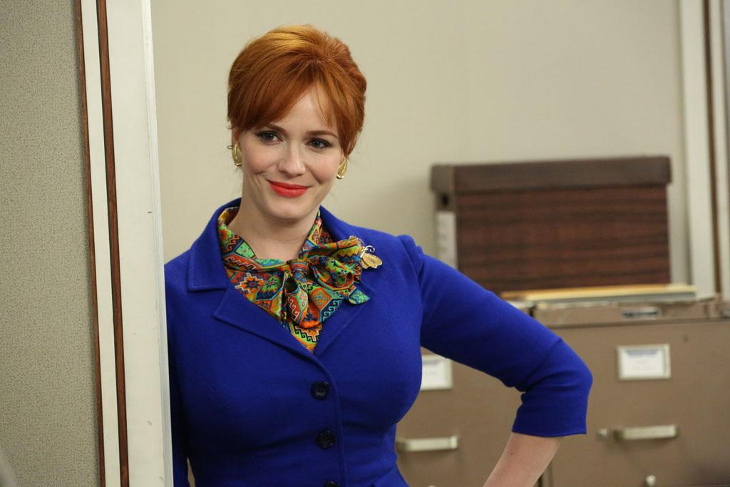 """Joan Harris (Christina Hendricks) in the """"Mad Men"""" episode, """"Man With a Plan."""""""
