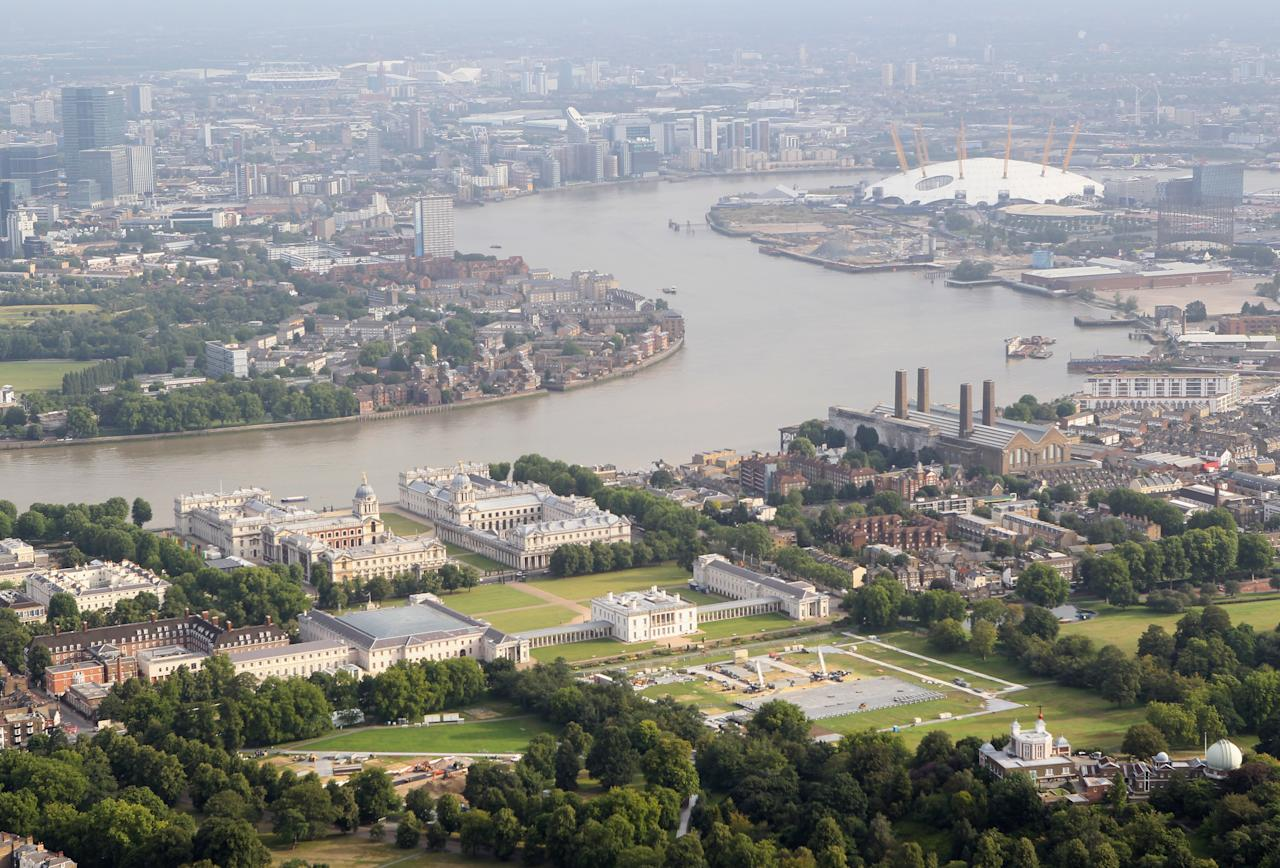 LONDON, ENGLAND - JULY 26:  Aerial view of Greenwich Park which will host equestrian events during the London 2012 Olympic Games on July 26, 2011 in London, England.  (Photo by Tom Shaw/Getty Images)