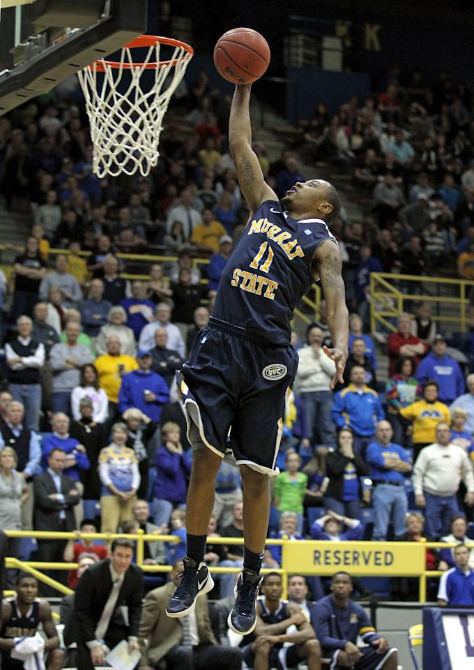 MOREHEAD, KY - JANUARY 18:  Donte Poole #11 of the Murray State Racers shoots the ball during the OVC game against the Morehead State Eagles at Johnson Arena on January 18, 2012 in Morehead, Kentucky.  (Photo by Andy Lyons/Getty Images)