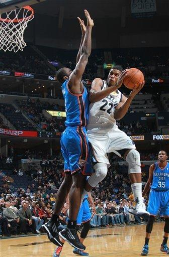 Westbrook, Durant lead Thunder over Grizzlies