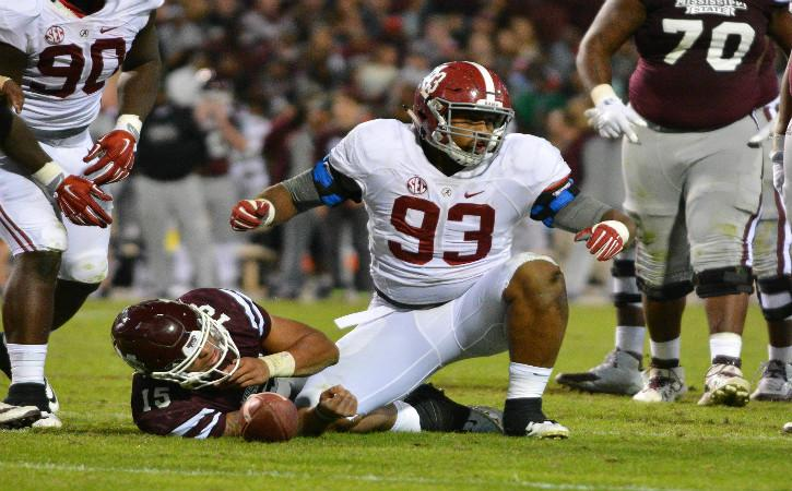 "<img width=""640"" height=""397"" alt=""Nov 14, 2015; Starkville, MS, USA; Alabama Crimson Tide defensive lineman Jonathan Allen (93) reacts after tackling Mississippi State Bulldogs quarterback Dak Prescott (15) during the game at Davis Wade Stadium. Alabama won 31-6. Mandatory Credit: Matt Bush-USA TODAY Sports""/><p>Though we are still more than eight months away from the 2017 NFL Draft, it is never too early to begin taking a look towards next season's crop of NFL rookies. For the Miami Dolphins, this also means trying to project where they will possibly end up in the first round pecking order as well </p> <p>The post <a rel=""nofollow"" rel=""nofollow"" href=""http://cover32.com/2016/07/25/mock-draft-monday-jonathan-miami-dolphins/"">Mock Draft Monday: Jonathan Allen adds youth to aging Miami Dolphins</a> appeared first on <a rel=""nofollow"" rel=""nofollow"" href=""http://cover32.com"">Cover32</a>.</p>"