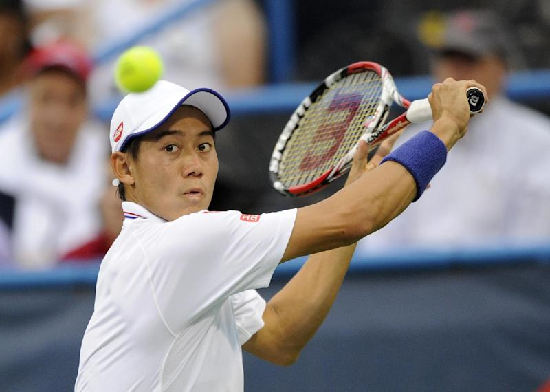 Japan's Nishikori out of Toronto with infected toe