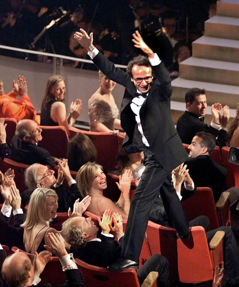 "Roberto Benigni's seat climbing (1999): Speaking of acrobatics, there's Benigni. Ever the clown, the Italian actor and director couldn't just walk up on stage and give humble, teary-eyed thanks when his ""Life Is Beautiful"" won the Oscar for best foreign-language film. Instead, he leaped from one seat back to another, whipping the audience into a frenzy, before hopping up the steps and giving presenter Sophia Loren a long, tight bear hug. (""Life Is Beautiful"" also earned a best-actor Oscar for Benigni and one for its original score.)"