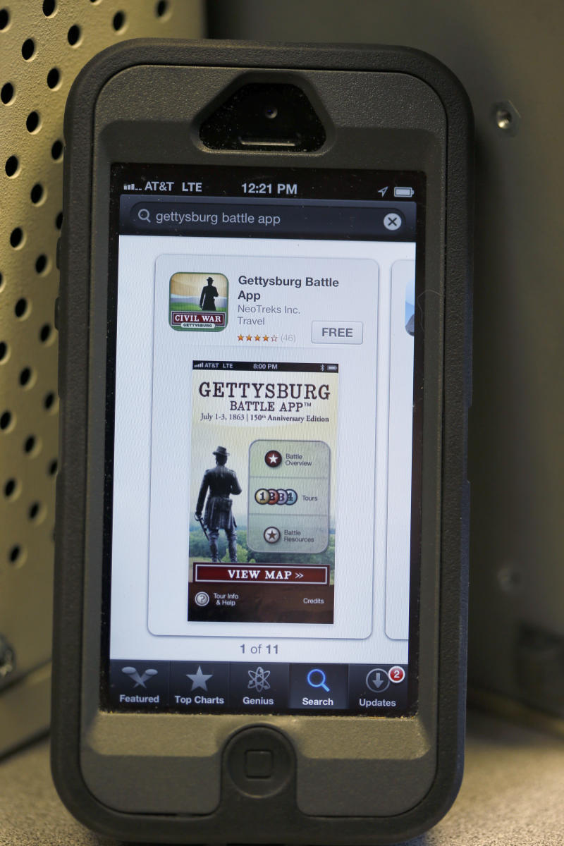 Apps mix history with technology at Gettysburg