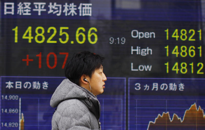 Nikkei leads fall in mostly weak Asian markets