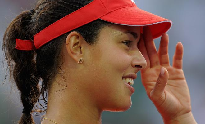 KEY BISCAYNE, FL - MARCH 25:  Ana Ivanovic of Serbia celebrates winning her match against Daniela Hantuchova of Slovakia during day 7 of the Sony Ericsson Open at Crandon Park Tennis Center on March 25, 2012 in Key Biscayne, Florida.  (Photo by Michael Regan/Getty Images)