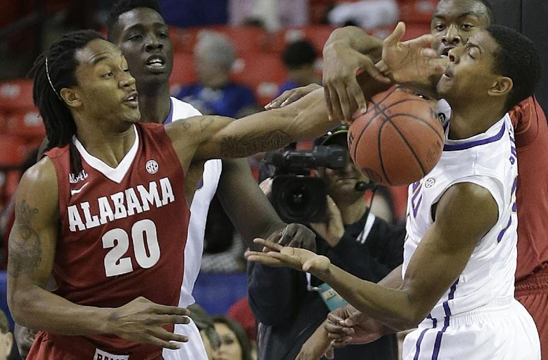 Coleman leads LSU past Alabama, 68-56, in SEC