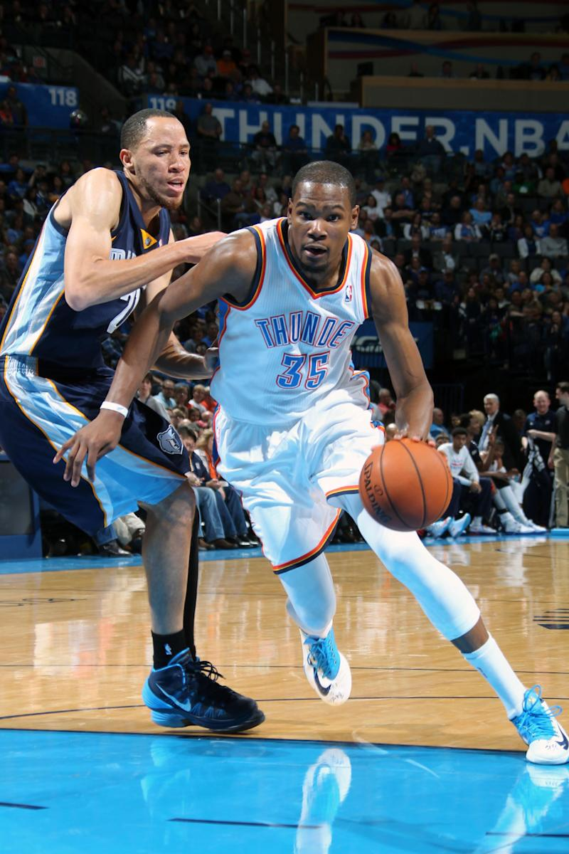 Durant scores 37 to help Thunder beat Grizzlies