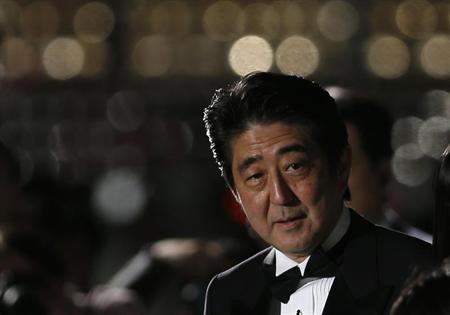 Japan's PM Abe attends the opening event of Tokyo International Film Festival in Tokyo