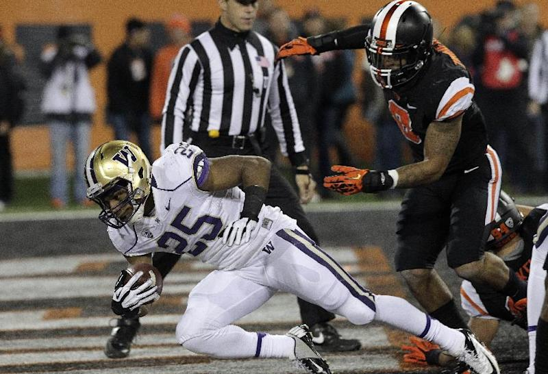 Sankey has 3 TDs in 69-27 Husky win over Beavers