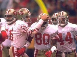 Joe Montana and Jerry Rice