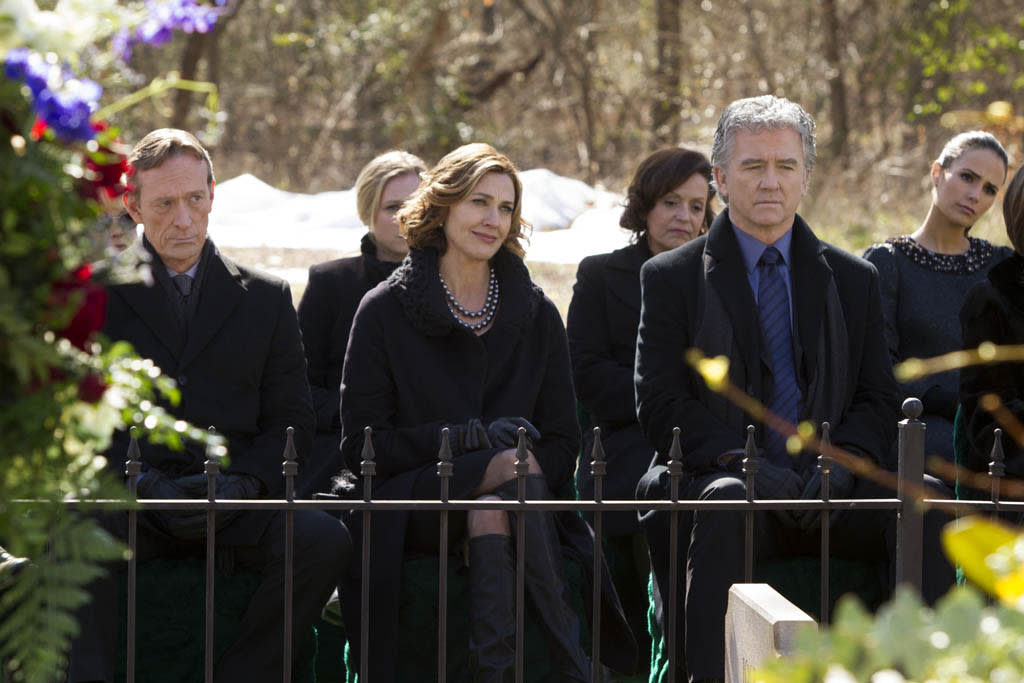 """Brenda Strong and Patrick Duffy in the """"Dallas"""" Season 2 episode, """"J.R.'s Masterpiece."""""""