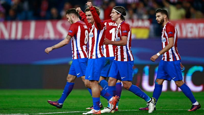 Image result for Atletico Madrid 2-1 Rostov: Griezmann double sends Simeone's men through