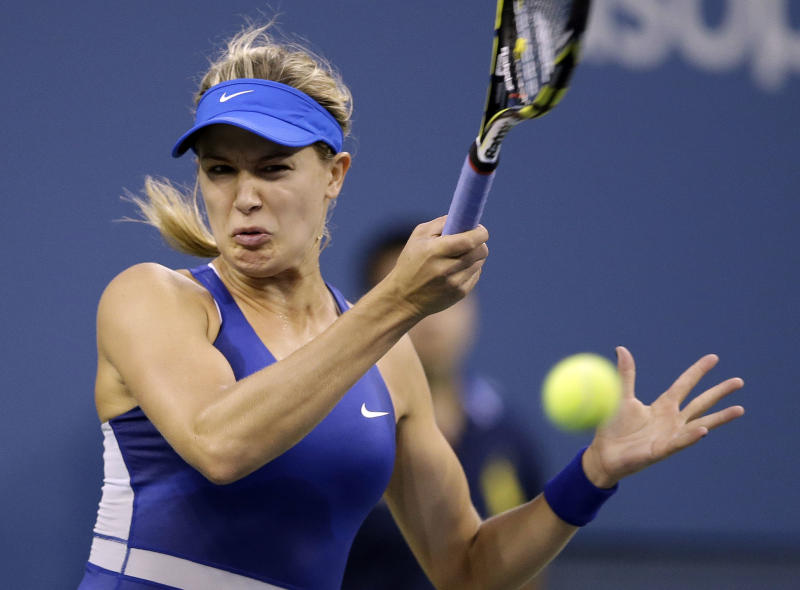 Bouchard reaches US Open's 4th round for 1st time