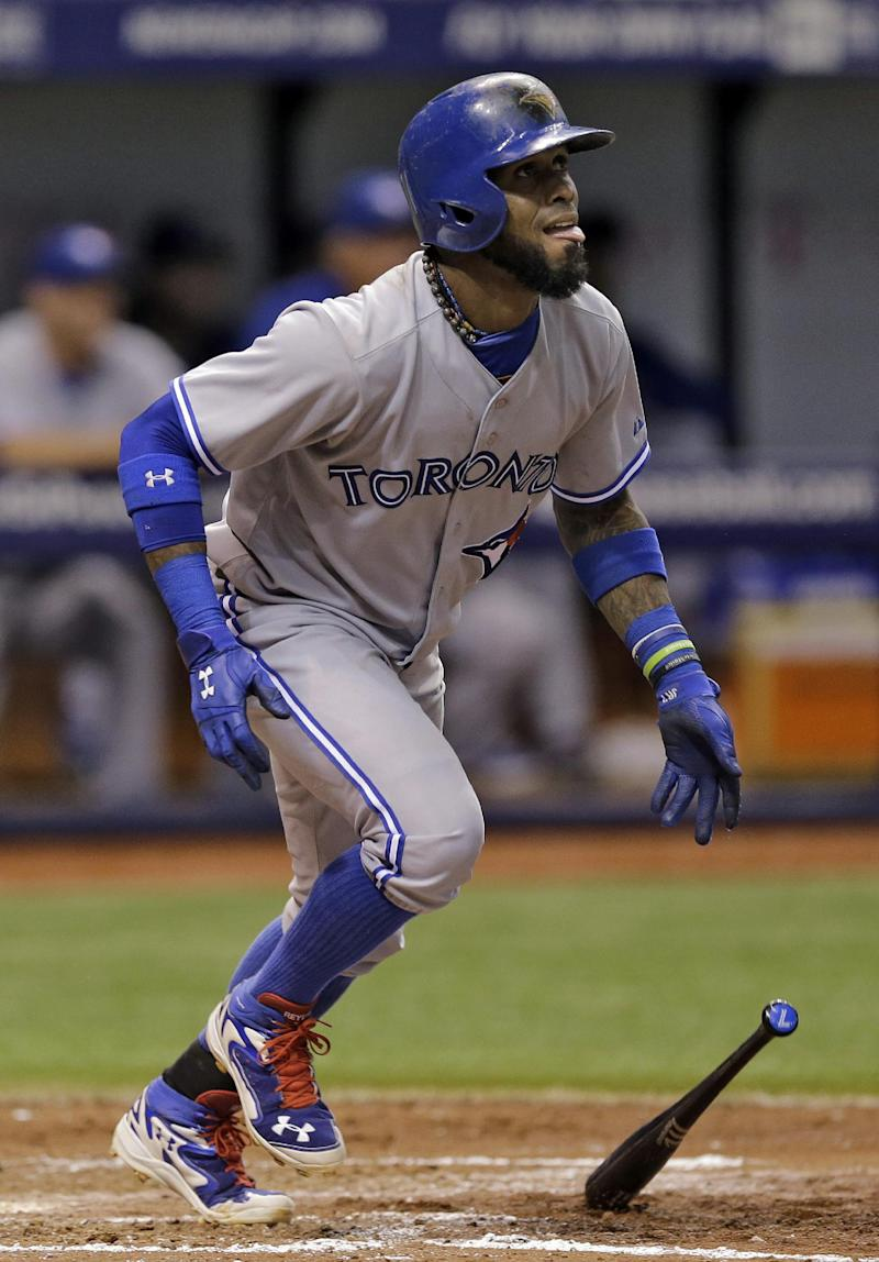 Reyes, Dickey lead Blue Jays over Rays 8-2
