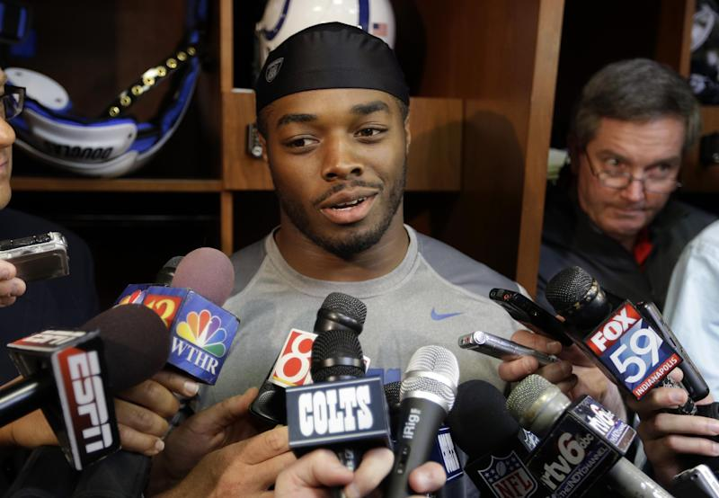 Colts' new running back greeted by hoots, hollers
