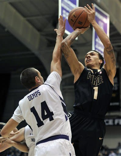 Northwestern beats Purdue 75-60