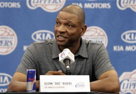 Rivers, the Los Angeles Clippers' new head coach and senior vice president of basketball operations, speaks at a news conference at the Clippers' training facility in Playa Vista