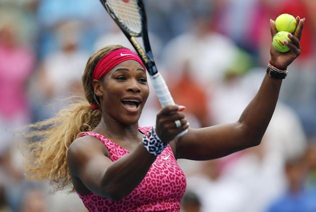 Serena Williams shouldn't have much trouble with Kaia Kanepi on Monday. But you never know. (AP Photo/Matt Rourke)